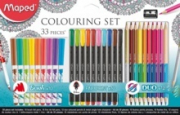 SET 33 PIEZAS PARA COLOREAR ADULTO MAPED